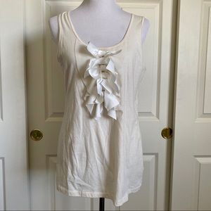Caslon Easy-Fit Tee Bow Tie Front Tank Top Large